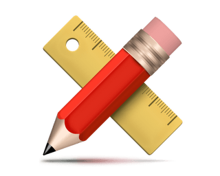 pencil-and-ruler-icon-psd